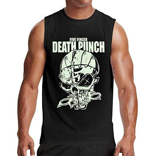 - Five Finger Death Punch-Knucklehead Glow Men's Classic Muscle T-Shirt Music Band Sleeveless T-Shirt Black 3XL