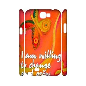 Clzpg 3D Cheap Samsung Galaxy Note2 N7100 Case - I am willing to 3D case cover