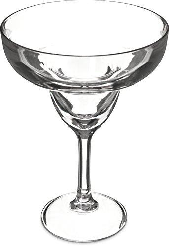 Carlisle 565207 Shatter-Resistant Plastic Margarita Glass, 16 oz, Clear -
