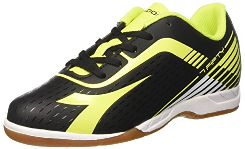 Diadora Men's 7fifty Id Indoor Soccer Shoes Black (Nero/Giallo Fluo ) EzSCUIXp