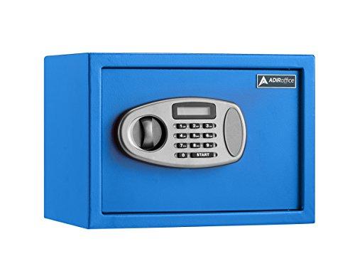 Blue Safe - AdirOffice Security Safe with Digital Lock - 0.5 Cubic Feet - Blue