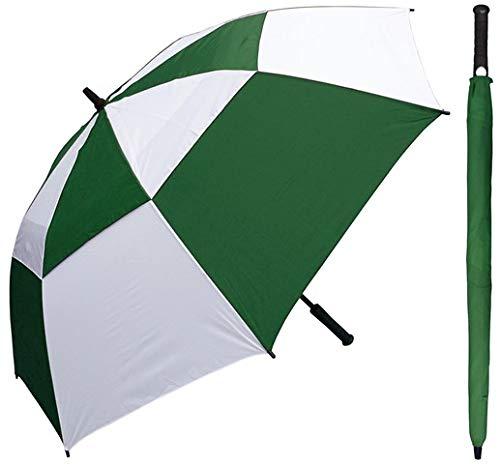 RainStoppers W030GRW 60インチ 自動開閉式ゴルフ傘 グリーン&ホワイト ウインドバスター ゴルフグリップハンドル44付き 6個   B07NLKN5WF