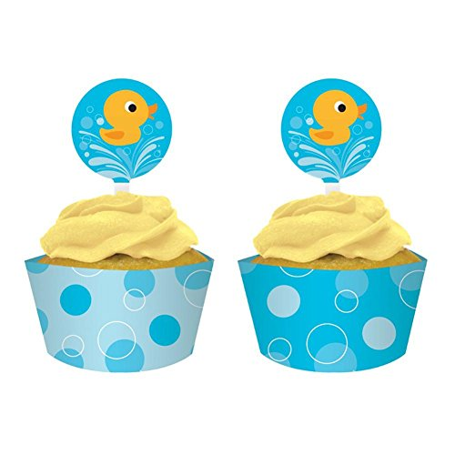 Lil Duck (12-Count Cupcake Pick Decorations and Baking Cup Wrappers, Lil' Quack)