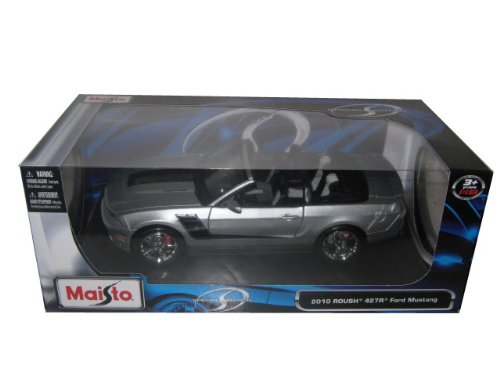 2010 Ford Mustang Convertible 427R Roush Edition Silver 1/18 (Roush Mustang Convertible)