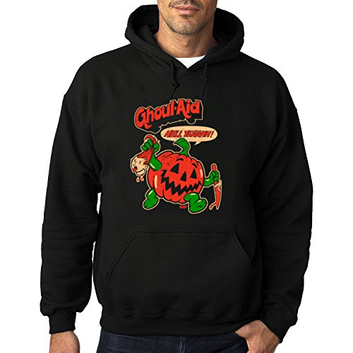 Men's GHOOOUL AID Heavy Blend Adult Hoodie Sweatshirts XL Black hot]()