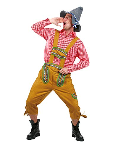 Funny Fashion Mens German Lederhosen Oktoberfest Yodeler Shorts Costume Sized Holiday Costume