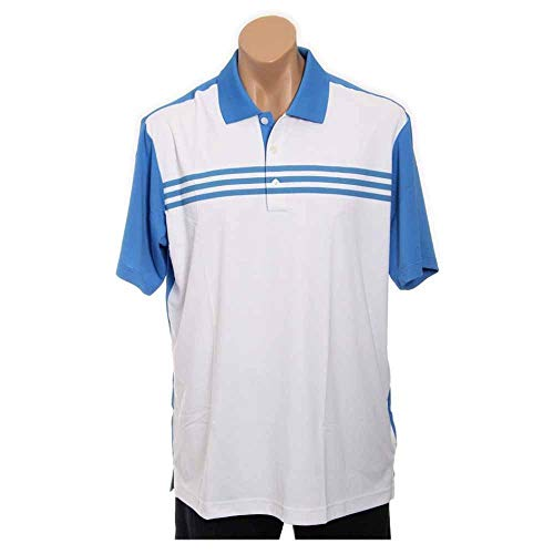 Colour Oasis Block (adidas Golf Men's Climacool 3-Stripes Color Block Polo Shirt, White/Oasis, Large)