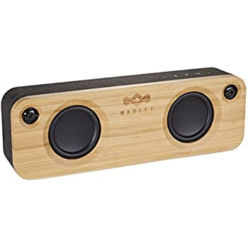 """House of Marley, Get Together Bluetooth Portable Audio System -  3.5"""" Woofer & 1"""" Tweeters, 30m Wireless Range, 8 hour Playtime,Built In Battery, Sustainably Crafted, EM-JA006SB Signature Black"""