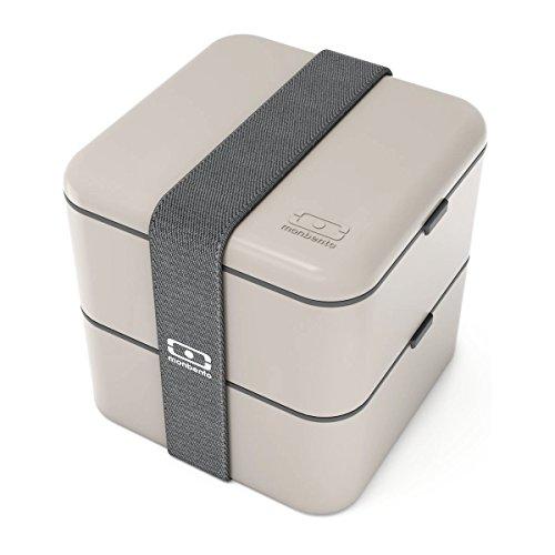 monbento 1200 03 010  MB Square Bento Box, Grey (Bento Box)