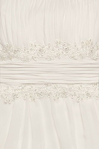 NTV9743 Ivory Lace Dress Wedding Waist Style Chiffon Beaded Pwz0YqWO