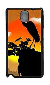 Samsung Galaxy Note 3 N9000 Cases & Covers - Crane Custom PC Soft Case Cover Protector for Samsung Galaxy Note 3 N9000 - Black