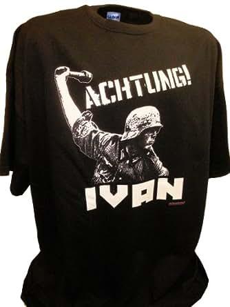 Amazon.com: Mens Achtung Ivan German Soldier Ww2 Russian