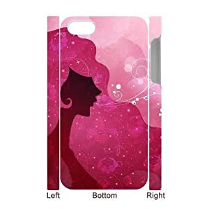 3D Bumper Plastic Case Of Pink customized case For iPhone 5c
