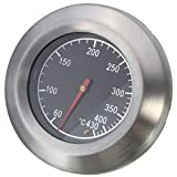 Stainless Steel Bimetal Thermometer for Barbecue Pit Smoker Grill Oven Temperature Gauge 60-430℃