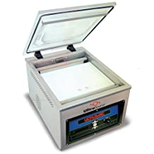 "UltraSource 903302 Commercial/Industrial 250 Vacuum Chamber Machine with Gas Flush for Food Sealing, Chamber Size 16.625"" Width by 19.875"" Length by 6.75"" Depth, Stainless Steel"