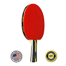 MightySpin Ping Pong Paddle | All-Around Table Tennis Racket | Enhanced Control, Spin, Balance | 7-Ply Wood Blade, Soft Rubber | Beginner to Advanced