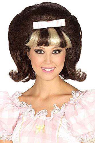 Hairspray Halloween Costume (Forum Novelties Women's 1960's Brown and Blonde Costume Princess Wig, Brown/Blond, One)