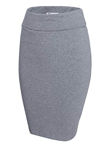 TAM WARE Womens Casual Convertible Knee Length Pencil Skirt TWCWS02-GRAY-US XL ()