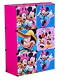 Atorakushon Kids High Quality CARTOON DOOR PLATE Polypropylene Plastic Sheet Foldable wardrobe Multicolor Kids Modular Almirah with 6 Storage Shelves