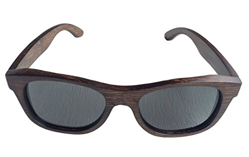 Bamboo Wood Sunglasses with Anti-Reflective Polarized Lens - Natural Frame and Case - Wayfarer (Dark Bamboo, - Sears Sunglasses