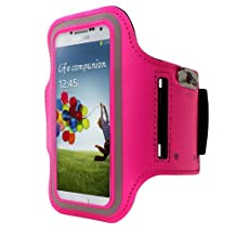 Cbus Wireless Running Jogging Sports GYM Armband Cover Case Holder for Samsung Galaxy S5 / S4 / S3 - Hot Pink