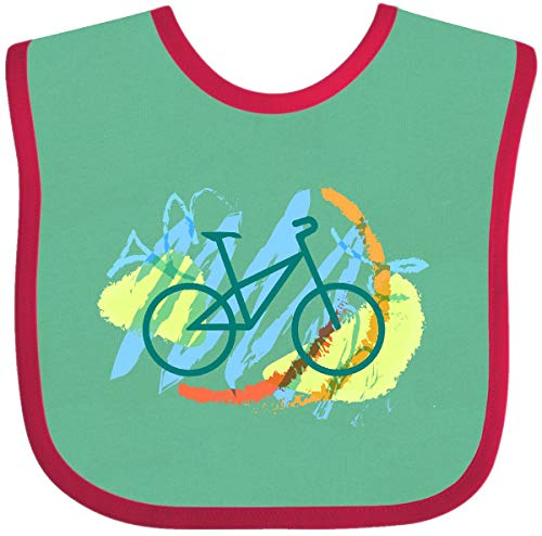 (Inktastic - Biking Abstract Baby Bib Green and Red 1bd31 )