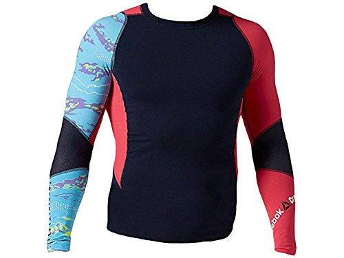 Reebok Mesh Polo Shirt (Men's Reebok CrossFit Midweight Top Longsleeve Faux Indigo B84558 (M))
