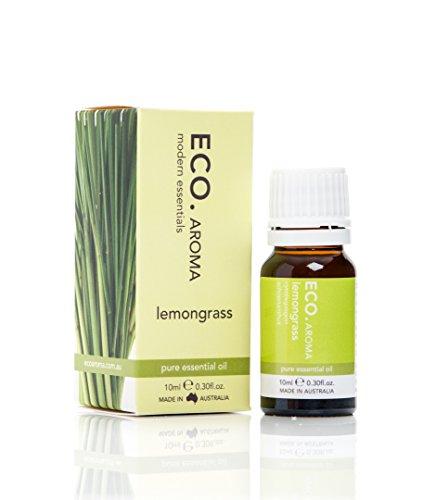 Lemongrass Scent - ECO. 100% Pure Lemongrass Essential Oil, Lemony Herbaceous Scent, Naturally Energises, Made in Australia, 0.3 oz