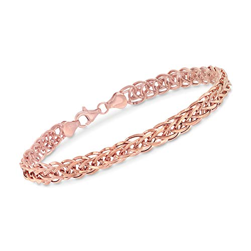 Ross-Simons 14kt Rose Gold Wheat-Link Bracelet