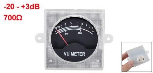 Magentoo(TM) 500uA 700 Ohm 55x55mm Analog Audio Amplifier SoundBox VU Meter Black