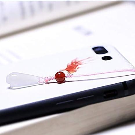 Pouybie Phone Lanyard Chine Jade t/él/éphone Pendentif pour Mobile T/él/éphones Appareils Photo Les Lecteurs Flash USB t/él/éphones Accessoires