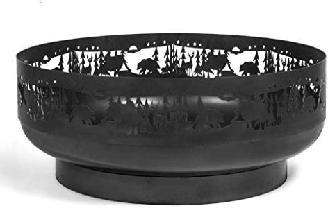 BlackOrange Brasero décoratif Ø 80 cm avec motif forêt et nature