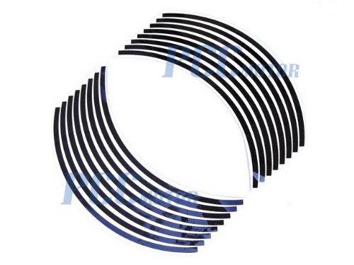 "BLACK 8.5"" Car Bike Motorcycle Rim Stripe Wheel Tape Decal Sticker DE57"