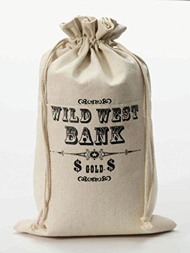 Bristol Novelty BA963 Wild West Money Bag, One