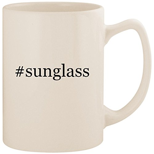 #sunglass - White Hashtag 14oz Ceramic Statesman Coffee Mug - Wholesale Cartier Glasses