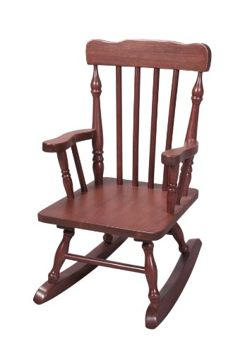 Gift Mark Rocking Chair - Wood Cherry Frame