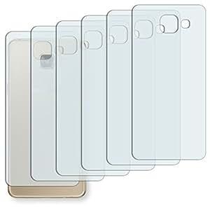 """6 x protectores pantalla Golebo para Samsung Galaxy A5 (2016) dorso. Lámina protectora adhesiva invisible """"Crystal Clear"""". Fabricado en Alemania. (Intencionadamente es más pequeña que la pantalla ya que esta es curva)"""