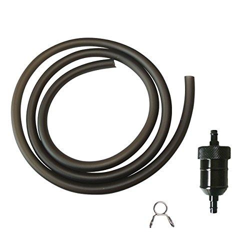 JRL CNC Black Fuel Filter Pipe Line For 50cc 70cc 110cc 125cc 140cc Pit Dirt Bike