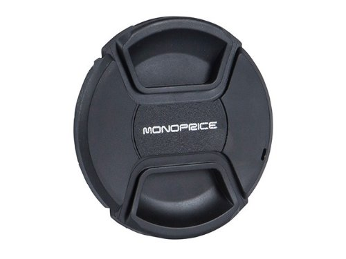Monoprice 110186 77mm Center Pinch Lens Cap (Black) (Monoprice Center compare prices)