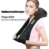 3D Shiatsu Back Shoulder Neck Massager Belt Percussion Bidirectional Rotation With Heat Function