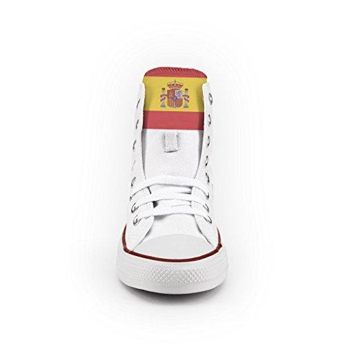 Converse Personalizzate All Star Alta - scarpe artigianali - Spain Flag Multicolor Paquete De Cuenta Regresiva ffFttmwF