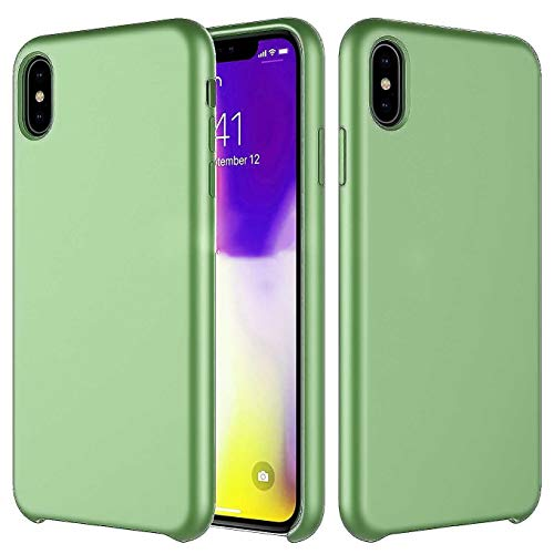 Compatible with iPhone XR - 6.1 Inch Case,Liquid Silicone Anti-Slip Case with Gel Rubber Shockproof Drop Protection Bumper Cover Case with Soft Microfiber Lining Cushion Slim -Mint Green