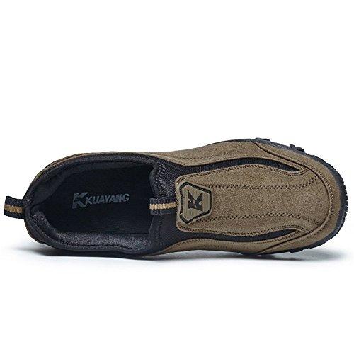 Hombres Marrón Zapatos del atléticos la 2018 de de en Otoño talón Deslizamiento Deporte Verano los Zapatilla Casual Moda Plano de gwzYgnHqxE