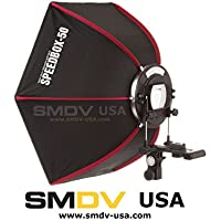 SMDV Diffuser SPEEDBOX-S50 - Professional 21 Inch (50cm) Rigid Quick Folding Hexagonal Softbox for Speedlite or Speedlight Flash - Legio Aerium Limited Edition