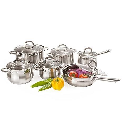 Amazon.com: Alpine Cuisine Vajilla Acero Inoxidable ...