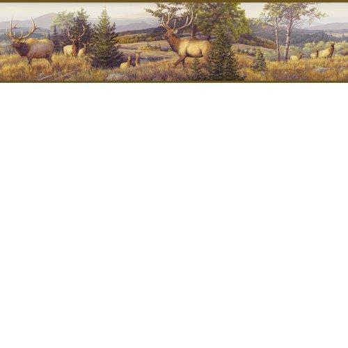 Chesapeake HTM48491B Breeze Purple Elk Mountain Portrait Wallpaper Border