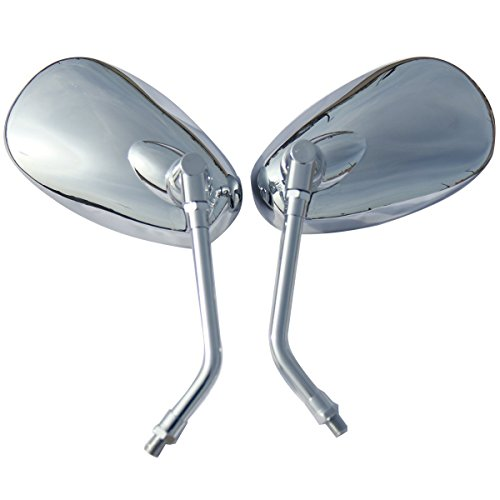View Limited Edition - One Pair Chrome Oval Rear View Mirrors for 2005 Suzuki Boulevard C50 Limited Edition