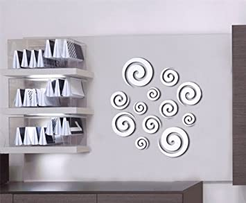 DH LLC 3D Shining Acrylic Mirror Wall Sticker Decoration Decor Part 78