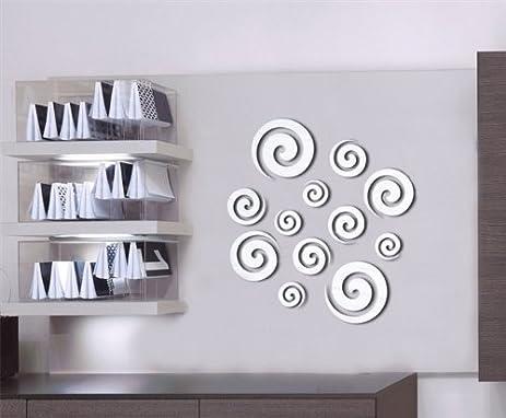 Amazon.com: DH LLC 3D Shining Acrylic Mirror Wall Sticker ...