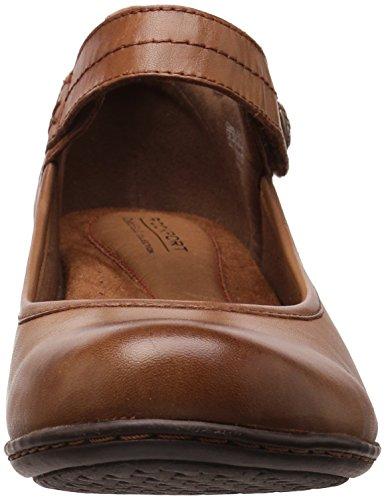 Almond Leather Strap Cobb Ankle Hill Abbott Pump Women's 0nwnUBYq6